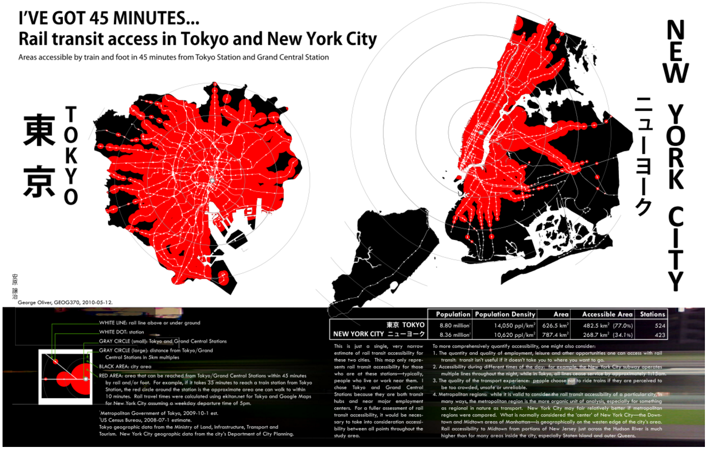 Comparison of NYC/Tokyo Transit Accessibility